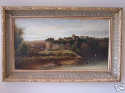 19th Century Oil of Chepstow Castle