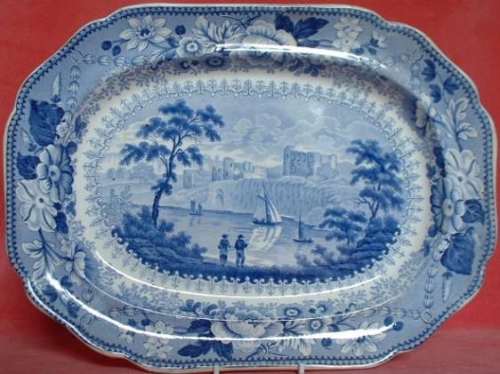 CH 12 x 10 meat platter Poutney Bristol c.1830 £120 01