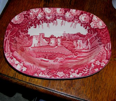 CH BOWL Wood & Sons, England red transferware 01