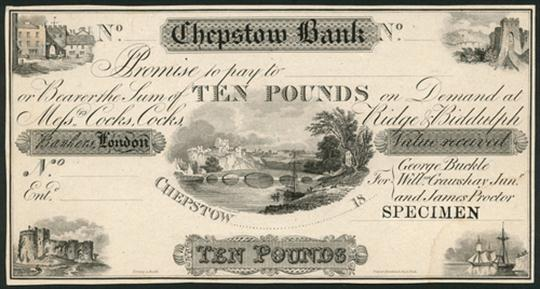 CHEPSTOW BANK NOTES 02 £10