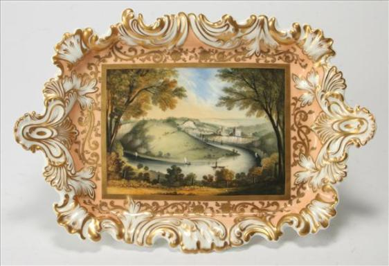 Copy of CH Worcester Roccoco Plate 3 to 400